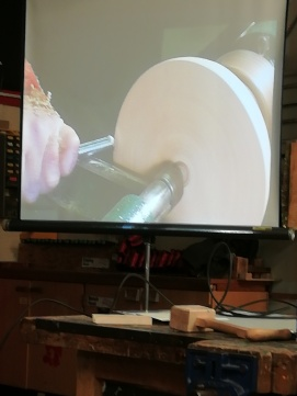 View of tool presentation on screen