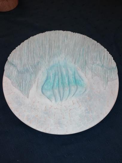 Steve's Glacier inspired carved platter