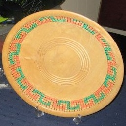 Maurice Tebbutt 12 decorated Platter