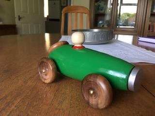 British racing green car