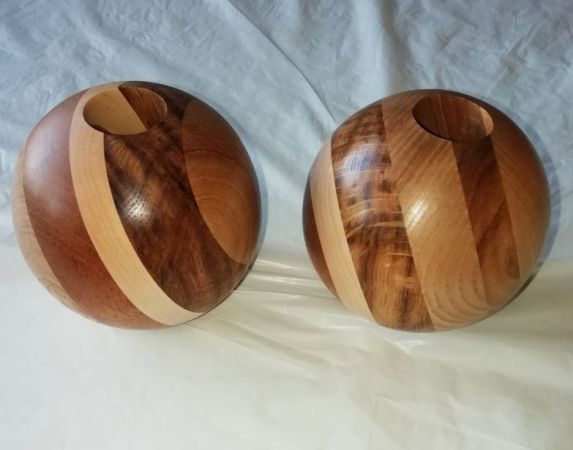 2 Sphere's from Reg Sherwin blank.